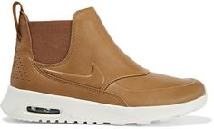 Shop Now - >  https://api.shopstyle.com/action/apiVisitRetailer?id=604815659&pid=uid6996-25233114-59 Nike - Air Max Thea Leather Slip-on Sneakers - Tan  ...