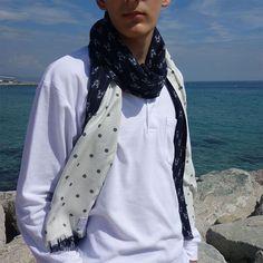 Bufanda hombre edición limitada, pieza única Crochet, Fashion, Sustainable Fashion, Navy Blue, Scarves, Elegant, Men, Moda, Fashion Styles