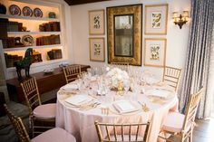 Pink and Gold Romance at San Ysidro Ranch  Read more - http://www.stylemepretty.com/california-weddings/montecito/2014/03/19/pink-and-gold-romance-at-san-ysidro-ranch/