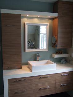Bathroom half wall shower cabinets new Ideas Bathroom Furniture, Bathroom Interior, Modern Bathroom, Bathroom Vanities, Wash Basin Cabinet, Half Wall Shower, Shower Cabinets, Laundry In Bathroom, Laundry Powder