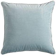 Plush Pillow - Smoke Blue, Teal, Spruce blue, navy 20 x 20 $19.95