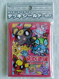 JAPAN POKEMON CENTER LTD UMBREON & GLACEON Official Card Deck Shield Sleeve 32P