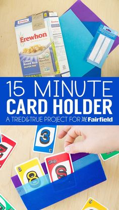 Playing card games is a breeze when you've got this handy No-Sew Card Holder!