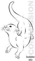 Otter Vector by kookybat