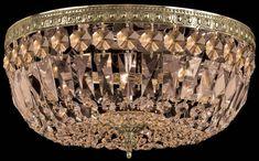3 Light Golden Teak Hand Cut Brass Ceiling Mount : 712-AG-GT-MWP   Concept Lighting Group