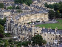 While in Bath, England - visit the beautiful Royal Crescent