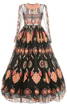 Veletta Arabesque Long Sleeve Full Skirt Gown by Valentino for Preorder on Moda Operandi