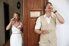 tequila shot before the ceremony at Riu Palace Cabo San Lucas Wedding