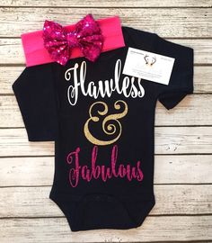 A personal favorite from my Etsy shop https://www.etsy.com/listing/263106273/baby-girl-sparkle-bodysuit-flawless