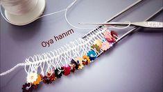 650- Pullu firkete oyası yapılışı Crochet Edging Patterns, Crochet Lace Edging, Paper Flowers Craft, Diy Flowers, Baby Girl Dress Patterns, Hand Embroidery Videos, Hairpin Lace, Crochet Buttons, Necklace Tutorial