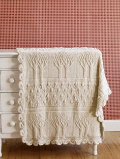 Free Knitting Pattern - Afghans & Blankets: Tree of Life Afghan