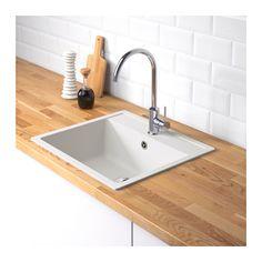 h llviken einbausp le 1 1 2 becken abtropf ikea traumhaus pinterest sinks kitchens and. Black Bedroom Furniture Sets. Home Design Ideas