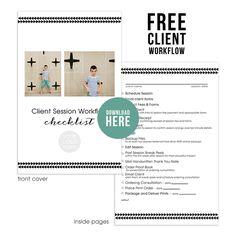Free photographers workflow checklist + BONUS Millers Lab tear off notebook  template!