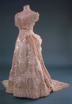 pale pink victorian evening gown