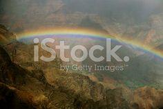 Kauai Hawaii valley rainbow royalty-free stock photo