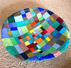 papier mache | Patchwork papier mache bowl | Flickr - Photo Sharing!