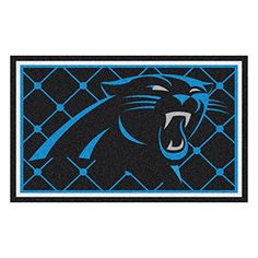 FANMATS NFL Carolina Panthers Nylon Face 4X6 Plush Rug *** Read more reviews of the product by visiting the link on the image.