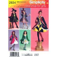 Girls Costume & Hat Sewing Pattern by finickypatternshop on Etsy, $9.25