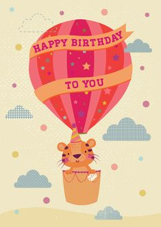 Illustration by Emma Haines (via Print & Pattern). Happy Birthday Messages, Happy Birthday Greetings, Birthday Greeting Cards, Kids Patterns, Print Patterns, Tiger Poster, Tiger Illustration, Winnie The Pooh, Cute Tigers