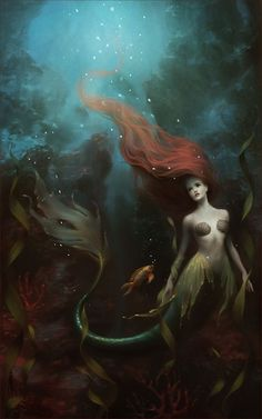 "HERMOSA IMAGEN MARICOLOUS [adjective] living in the sea. Etymology: Latin mari-, ""sea, ocean"" + -colous, combining form representing colere, ""to inhabit"". [Mélanie Delon - The Little Mermaid]"
