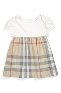Burberry 'Cherrylina' Knit & Woven Dress (Baby Girls) available at #Nordstrom