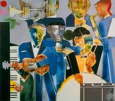 """colin-vian: """" Romare Bearden One Night Stand from the Blues… African American Culture, African American Artist, American Artists, African Art, Mixed Media Collage, Collage Art, Romare Bearden, Afro, Jazz Art"""