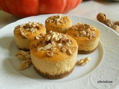 Cheescake au potiron-noix-caramel