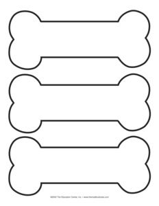Dog Bone Cut Out Pattern