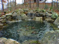 water pond ideas | Water Features & Fountains « Bannerman Landscape & Supply