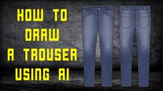 How to draw a trouser Fashion Flats, Apparel Design, Design Tutorials, 3 D, Street Wear, Trousers, Menswear, Photoshop, Drawings