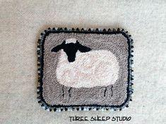 Beginner Punch Needle Pattern - Sheep - #BPN1 - Needlepunch Embroidery on Etsy, $15.00