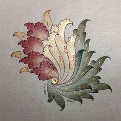 Bülbül yuvası/the nest of nightingale #arts #finearts #islamicarts #classicarts #artgallery #painting #tezhip #ornamentation #goldflowers #goldleaf #paradise #istanbul #türkiye #ottoman