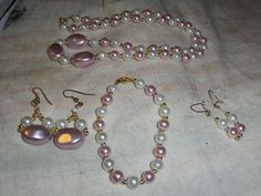 """""""Rosey Nuggets"""" 4 piece set --- ONE OF A KIND --- $8.00 + $3.00 shipping in the USA"""