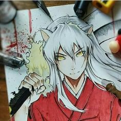 Inuyasha, Fanart, Anime Love, Otaku, Sketches, Club, Fan Art