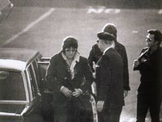 Elvis Arriving to provide a blood sample in the paternity suit filed by Patricia Parker on October 21, 1971