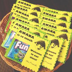 Awana favors. Could be used any time during the year.