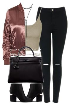 """Untitled #4240"" by maddie1128 ❤ liked on Polyvore featuring Topshop, Forever 21, Hermès and Alexander Wang"