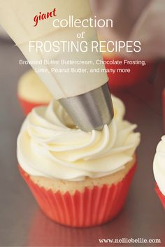 This collection of basic frosting recipes includes all the frostings we routinely use on our cakes and cookies; all in one place!