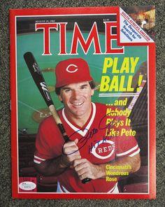"Pete Rose "" Hit King "" Signed 1985 TIME Magazine AUTO JSA COA Cincinnati Reds"