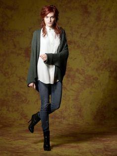 100% Cashmere V Neck Ribbing Jacket-Cashmere 1873.COM