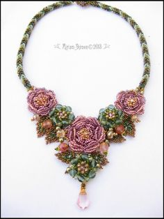 Rose bloom necklace