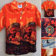 95b8cea9d Vintage Surfside Sportwear Waikiki Hawaiian Shirt Surfing Surfer L ? See  Pics   eBay