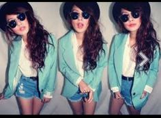 Love this outfit, and the mint green blazer!