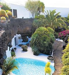 Lanzarote; Cesar Manrique's house in lava field