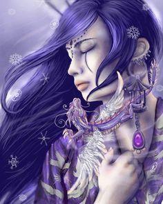 kana   the dragon lord by romanticfae - Digital Art by RomanticFae