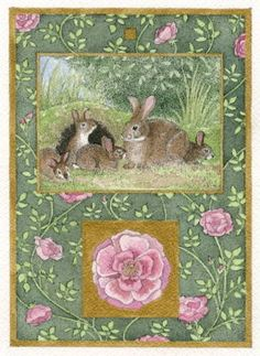 """""""Rabbits with Roses"""" by Carrie Wild (08/20/14)"""
