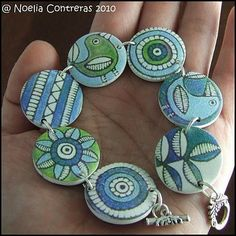 Christelle van Lingen Expressions in Polymer Clay: Transfers