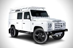 Custom Land Rover Alpine Defender by Twisted Land Rover Defender 110, Landrover Defender, Car Sounds, Roof Rack, Range Rover, Video Photography, Honda Civic, Landing, Off Road Racing