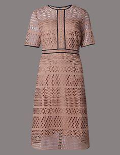 Laser Lace Dress | M&S