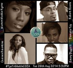 DeMaris Tribbert Toy, Robert Rivera, Mumen Ngenge, Chelsea Balentine and Samuel Diggs are some of the most gifted vocalists and they are part of Tye Tribbett's team. Worship has never been this great. ‪#‎TyeTribbettInCOZA‬ 26th August 2014. 5:30PM, Thisday Dome, CBD, Abuja.
